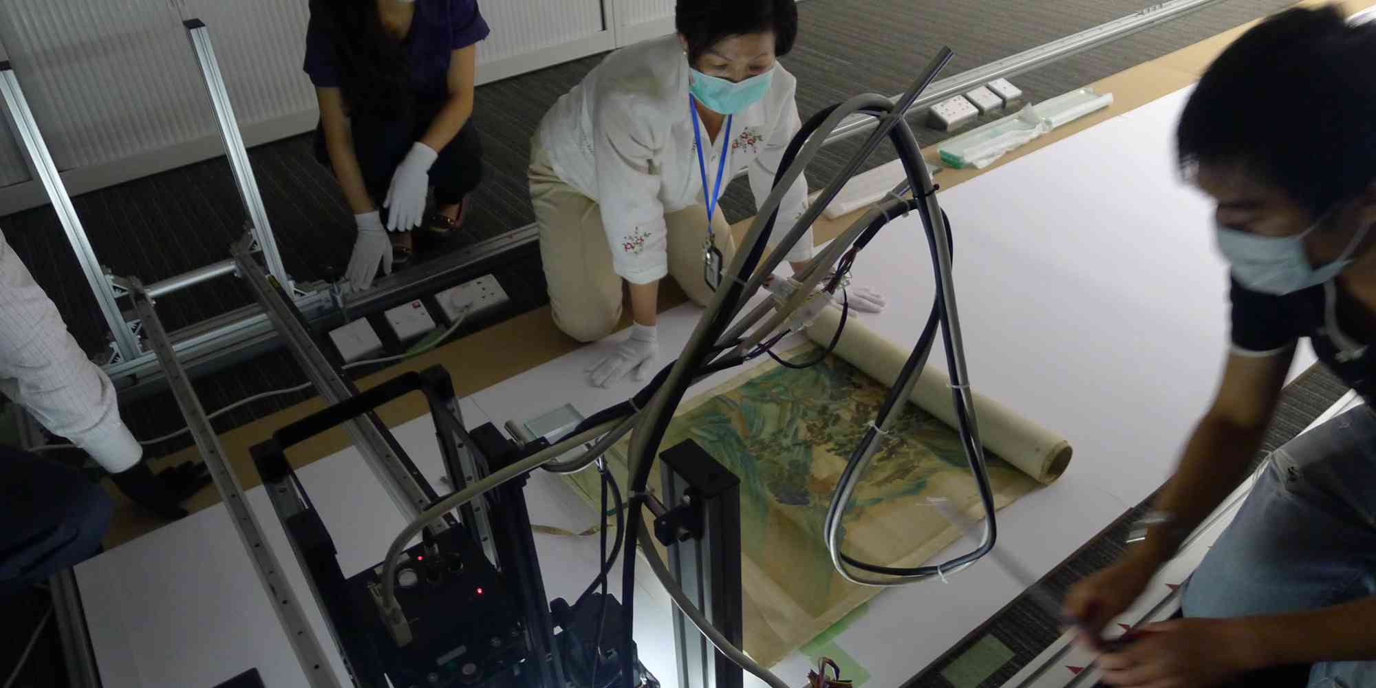 LUXLAB: scanning 18m scroll painting, 'Pacifying the South China Sea Pirates', Hong Kong Maritime Museum